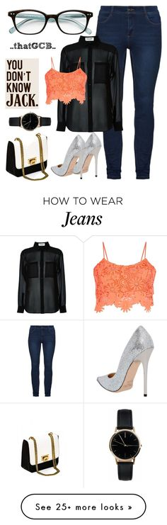 """""""..BRALET on a SHEER TOP and Blue Jeans.."""" by thatgcb on Polyvore featuring Jimmy Choo, Yves Saint Laurent, Parisian, Kate Spade, Love Quotes Scarves, Freedom To Exist, simpleoutfit, bluejeans, bralet and SheerTop"""