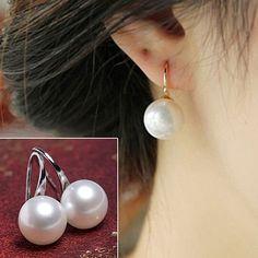 Women Imitation Pearls Ball Hook Earrings Eardrops Bridal Wedding Party Jewelry 895B - http://fashionfromchina.net/?product=women-imitation-pearls-ball-hook-earrings-eardrops-bridal-wedding-party-jewelry-895b