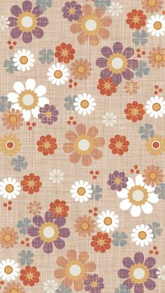 Flowers color brown wallpaper