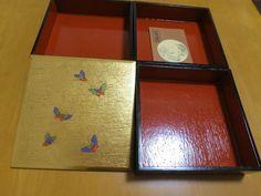 Japan JUBAKO 3-tier of lacquered bento boxes   YAMANAKA-NURI