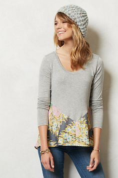 Anthropologie top refashion inspiration