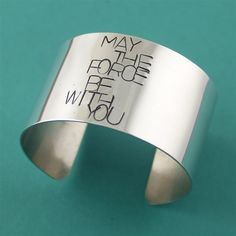 May the Force be with you Giant Cuff Bracelet - Spiffing Jewelry - Star Wars | Jewelry Addiction | Pinterest | Cuffs, Cuff Bracelets and Star Wars