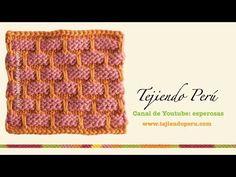 Punto agarrador de ollas tejido en dos agujas (ballband dishcloth) - YouTube