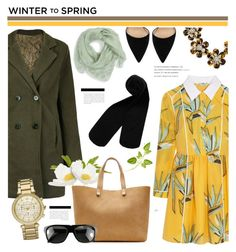 """""""Winter to Spring Layers"""" by cly88 ❤ liked on Polyvore featuring Fendi, Alexander McQueen, Victoria Beckham, Michael Kors, Monki, Gianvito Rossi, BaubleBar, Ugo Cacciatori, watches and scarf"""