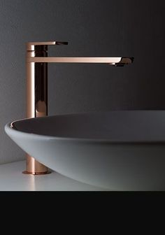 Beautiful copper bathroom taps in latest Italian styling. We supply basin taps, bath fillers, shower heads & matching shower valves all in a copper finish. Copper Bathroom, Bathroom Taps, Shower Faucet, Bathroom Fixtures, Modern Bathroom, Taps Bath, Bathroom Hardware, Sink Faucets, Master Bathroom
