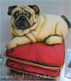 Life Size Dog Cake...couldn't slice this,ever.