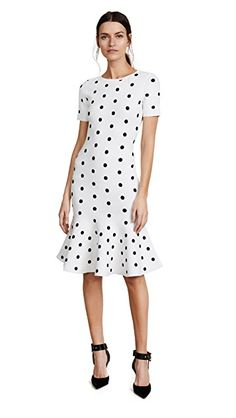 Milly Polka Dot Mermaid Dress In White/ Navy Indie Outfits, Fall Outfits, Where To Buy Clothes, Funny Tee Shirts, China Fashion, Retro Dress, Club Dresses, Buy Dress, White Dress