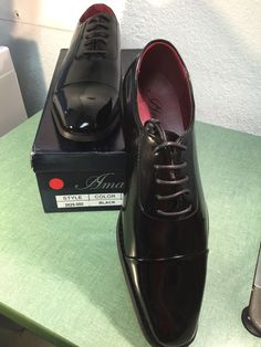 Amali New Men's Black Oxford Tuxedo Style Patent Leather Dress Shoes 2825-000 #Amali #Oxfords