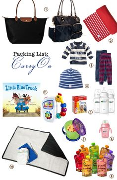 Packing for a One-Year Old: airplane Carry-On