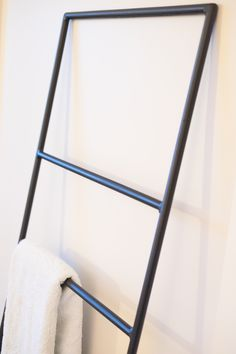 Leni the bathroom ladder - Super cool steel ladder. Made in Christchurch New Zealand Bathroom Ladder, Christchurch New Zealand, Stainless Steel Straws, Produce Bags, Plastic Waste, Wardrobe Rack, Cool Stuff, Design, Home Decor