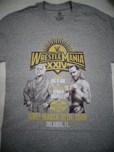 Shawn Michaels VS Ric Flair Career Match Wrestlemania XXIV WWE Wrestling Shirt #RicFlairShawnMichaels #GraphicTee