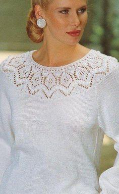 Arm Knitting, Sweater Knitting Patterns, Knitting Stitches, Knit Patterns, Clothing Patterns, Knitted Baby Cardigan, Knitwear Fashion, Pulls, Crochet Lace