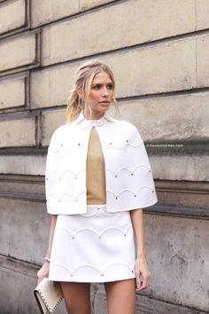"""snappedbybenjaminkwan: """"Lena Perminova at Valentino FW 2017 - 2018 Paris Snapped by Benjamin Kwan Paris Fashion Week """""""