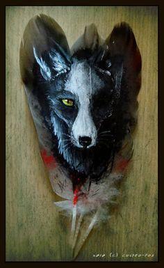 Feather Painting: Fox Eye by Culpeo-Fox.deviantart.com