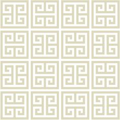 Jonathan Adler Wallpaper Greek Key Taupe (€225) ❤ liked on Polyvore featuring home, home decor, wallpaper, backgrounds, fillers, effects, borders, picture frame, border wallpaper and jonathan adler home decor
