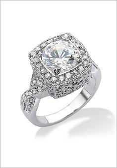 Plus Size Cubic Zirconia Ring   Plus Size Palm Beach Jewelry   Jessica London