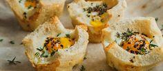 Baked Eggs In Bread Baskets