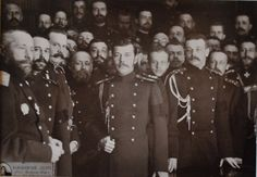 Young Nicholas II and Officers