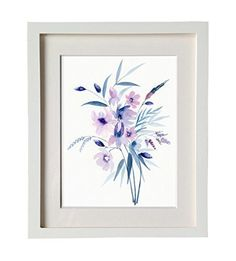 Botanic Floral Bouquet Watercolor Print Modern Abstract Art Print Canvas Wall Decro. This is an archival inkjet print of the original watercolor on 140 lb (300 g) archival paper or fading resistant canvas you can choose. Solid wood frame with four finishes, 2mm thick off white matte, oil painting inner frame are provided on your demand too. For shipping reason, you need to install the inner frame by yourself, it's easy. We need 3-4 days to process your order.All artwork and images are...