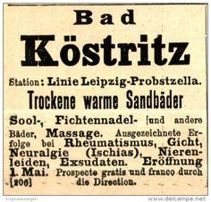Original-Werbung/ Anzeige 1897 - BAD KÖSTRITZ - ca. 45 x 45 mm