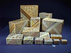Cleverwood presents Genuine Japanese Puzzle Boxes and Kumiki Puzzles made by the master craftsmen of Hakone, Japan~    These high quality puzzle boxes are the real thing - handmade in Japan by the master craftsmen themselves. These fine quality puzzle boxes are rarely sold outside of the mountainous village of Hakone, Japan.