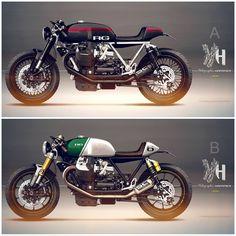 Cafè Racer Concepts - Moto Guzzi by Holographic Hammer Moto Guzzi 850, Moto Guzzi Motorcycles, Guzzi V7, Concept Motorcycles, Custom Motorcycles, Scrambler, Norton Cafe Racer, Triumph Cafe Racer, Cafe Racer Bikes