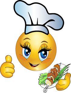 Adorable chef smiley