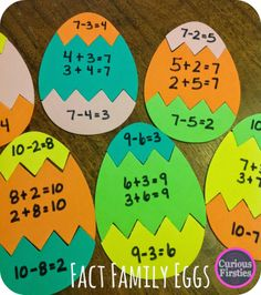 Egg Puzzles: Math Review - Curious Firsties