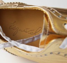 Esquivel gold brogues exclusively for goop | goop.com