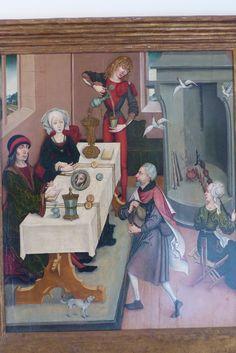 Oberrhein (Colmar ?), Hühnerwunder (Jakobslegende), um 1480, Öl auf Holz Museum Unterlinden, Colmar