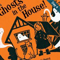 Ghosts in the house, from A Childs View: 30+ Creative Children's Book Covers