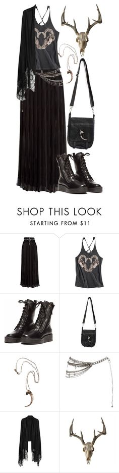 """Untitled #299"" by hades-persephone ❤ liked on Polyvore featuring Givenchy, H&M, Skingraft, Pamela Love and Valentino"