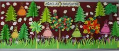 Class Decoration, School Decorations, 3d Origami, Green Day, Upcycle, Education, Learning, Nature, Kids