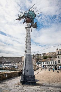 """The """"Plymouth Sea Monster"""" aka """"the Prawn"""" designed by Brian Fell of Glossop, Derbyshire, UK Devon Uk, Devon England, Devon And Cornwall, South Devon, Detective, Plymouth Barbican, Plymouth England, Dartmoor National Park, Luxor Egypt"""