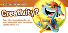 This devotional for kids teaches about how our creative God made us to be creative too!