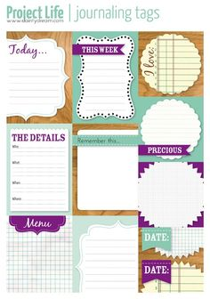 Project Life printables - Click image to find more DIY & Crafts Pinterest pins