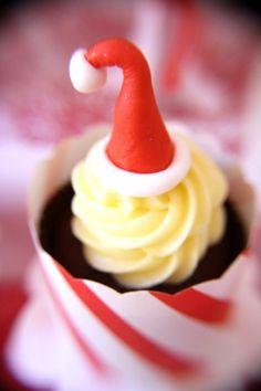 Santa Hat cupcake