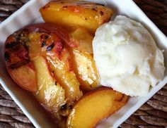 Barefeet In The Kitchen: Grilled Peaches with Homemade Vanilla Ice Cream