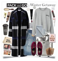 """Pack & Go; Winter Getaway to Sweden"" by maggiesinthemoon ❤ liked on Polyvore featuring Helene Berman, Citizens of Humanity, MANGO, Prada, Allies of Skin, By Terry, Puma, The Created Co., Aesop and Express"