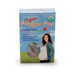 Preggie Pop Drops -- the all-natural way to ease morning sickness and other pregnancy-related nausea!