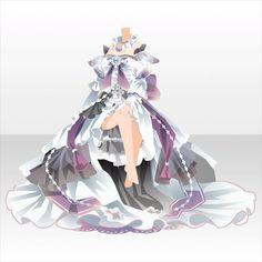 상반신 / 이너 고상한 왕좌의 크리스탈 드레스 B 퍼플