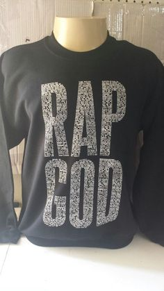 eminem rap god REPLICA black crewneck sweatshirt rappers diamond obey Last king