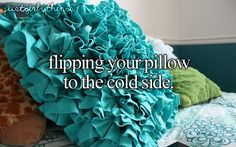 flipping your pillow to the cold sidw