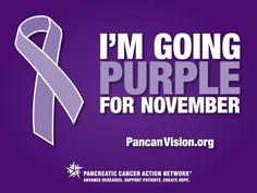 November is Pancreatic Cancer Awareness Month.