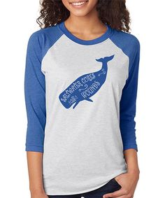 Another great find on #zulily! Royal Heather 'Saltwater Cures All Wounds' Raglan Tee - Women #zulilyfinds