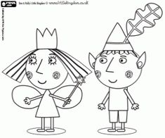 ben and holly colouring pages - Google Search