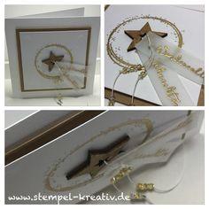 """Eine Weihnachtskarte mit dem Stempelset """"Sternenzauber"""" von creative-depot"""