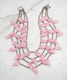 Statement Necklace.Multi Strand Necklace.Fringe Necklace.Statement Bib.Bohemian…