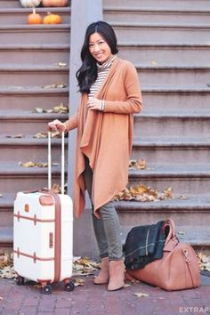 fall traveling style- How to travel with style http://www.justtrendygirls.com/how-to-travel-with-style/