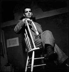 Jack Kerouac, New York City, 1953. By Elliott Erwitt.  I put the photo here instead of under literary because I'm more interested in the photo than the subject.